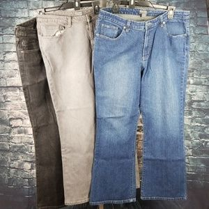 Chico's Jeans - Lot: Three Chico's Pair of Jeans, Size 2.5
